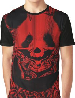 Red Gangsta Panda Graphic T-Shirt