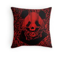 Red Gangsta Panda Throw Pillow