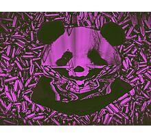 Purple Gangsta Panda Photographic Print