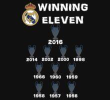 Real Madrid Winning 11 Champions League (B) Baby Tee