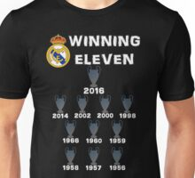 Real Madrid Winning 11 Champions League (B) Unisex T-Shirt