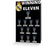 Real Madrid Winning 11 Champions League (B) Greeting Card