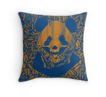 Bluish Yellow Gangsta Panda Throw Pillow