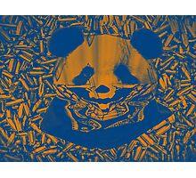 Bluish Yellow Gangsta Panda Photographic Print