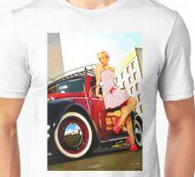 Beetle Pin up Girl Unisex T-Shirt