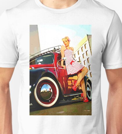 Beetle Pin up Girl Unisex T-Shirt