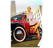 Beetle Pin up Girl Poster