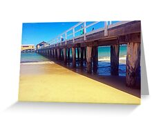 Pier on beach Greeting Card