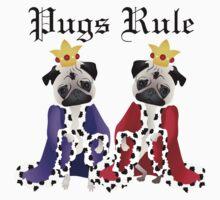 Pugs Rule Royal Pugs One Piece - Short Sleeve