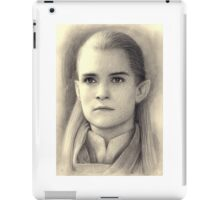 Legolas The Lord of the Rings Pencil Drawing iPad Case/Skin