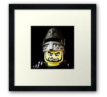 The Frightening Knight is here Framed Print