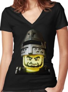 The Frightening Knight is here Women's Fitted V-Neck T-Shirt