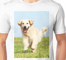 Cute Dog Puppy Running Unisex T-Shirt