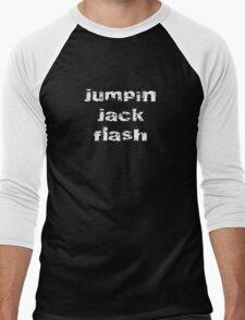Jumpin' Jack Flash - Lyric T-Shirt Men's Baseball ¾ T-Shirt