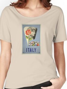 Italy  Women's Relaxed Fit T-Shirt