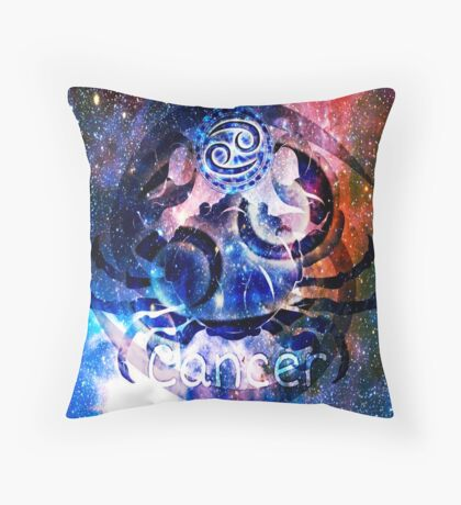 Astrology Cancer Sign Throw Pillow