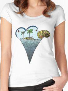Icecream summer Women's Fitted Scoop T-Shirt