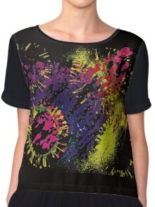 Abstract Excitement Chiffon Top