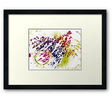 Abstract Excitement Framed Print