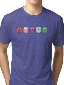 5 little Owls Tri-blend T-Shirt