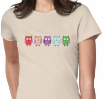 5 little Owls Womens Fitted T-Shirt