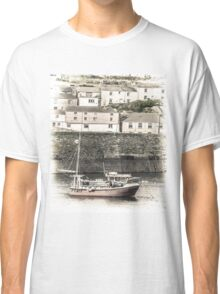 Fishing Boat in Harbour - Cornwall Classic T-Shirt