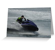 Jet ski Greeting Card