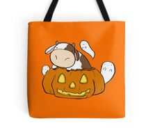 Spooky Halloween Cow Tote Bag