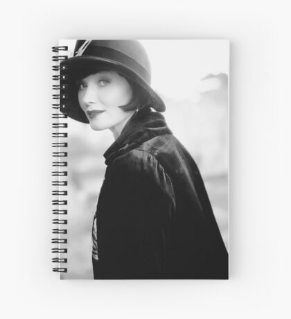 Miss Fisher B/W Spiral Notebook