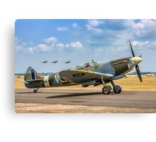 The Grace Spitfire taxies out Canvas Print