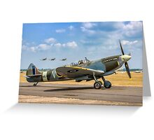 The Grace Spitfire taxies out Greeting Card