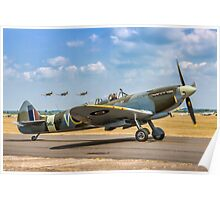 The Grace Spitfire taxies out Poster