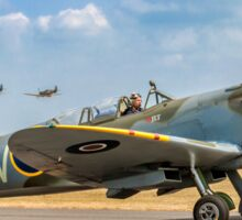 The Grace Spitfire taxies out Sticker