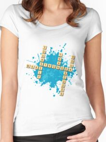 Scrabble: Make yourself stronger than your excuses | Hazte más fuerte que tus excusas Women's Fitted Scoop T-Shirt