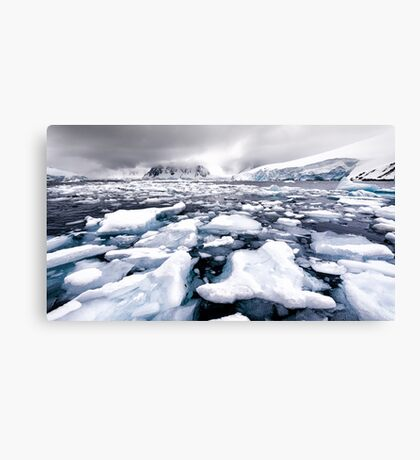 Icy Channel Canvas Print