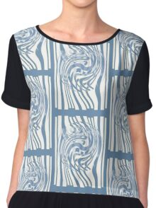 Bubbled Space and Time Chiffon Top