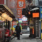 Old Man Walking Down the Street in Insadong, Seoul by Christian Eccleston