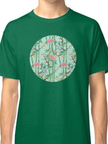 Bamboo, Birds and Blossom - soft blue green Classic T-Shirt