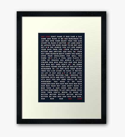 The Beatles - Hey Jude Framed Print