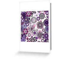 Beautiful violet flowers Greeting Card