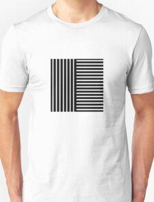 Black and White Stripes Unisex T-Shirt