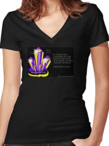 Because SHINY - Rocks! Women's Fitted V-Neck T-Shirt
