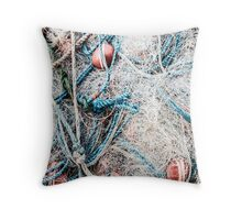 Piled Rope and Net Throw Pillow