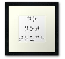 Do Not Touch in Braille in Grey Framed Print