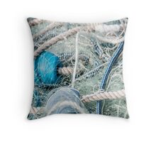 Enveloped Net and Rope Throw Pillow