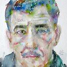 FRANZ KLINE - watercolor portrait by lautir
