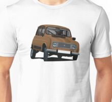 Renault 4 illustration, brown Unisex T-Shirt