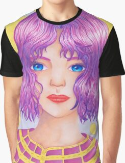 Violetta [Copic and Colored Pencil Semirealistic Portrait] Graphic T-Shirt