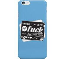 """Ain't Your Turn to Give a Fuck"" - The Wire (Dark) iPhone Case/Skin"