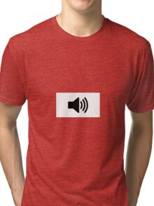 sound icon Tri-blend T-Shirt